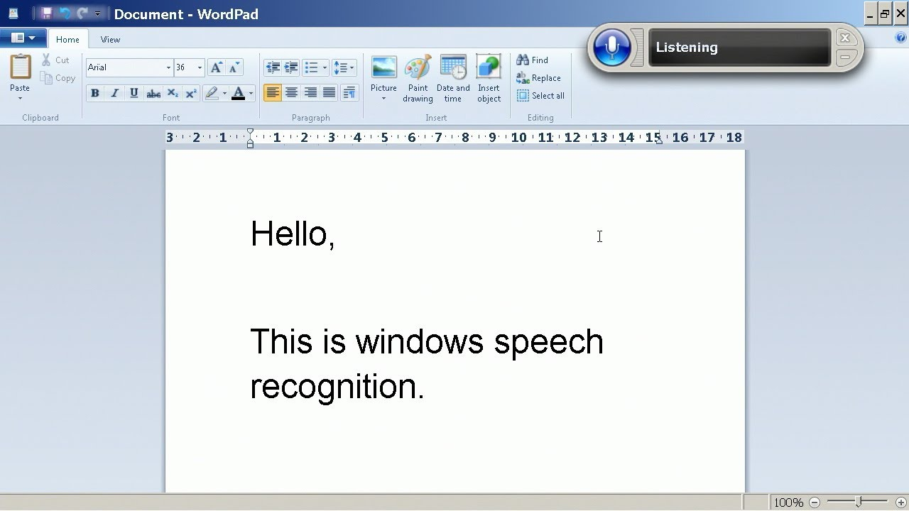 free speech recognition software for windows 7