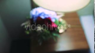 Bridal Bouquet Lying Under a Table Lamp