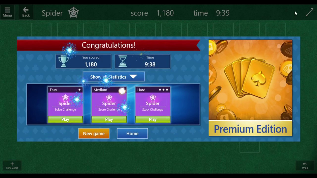 firework on win microsoft solitaire collection youtube