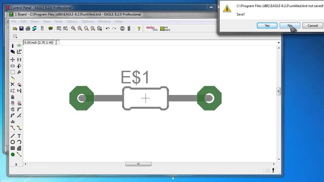 Cadsoft Stacje Robocze Hp Eagle Pcb 7805 5v 100ma Voltage Regulator Circuit Tutorial Youtube 04 Creacion De Librerias