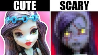 IF MONSTER HIGH DOLLS WERE ACTUALLY MONSTERS // Toy Repainting