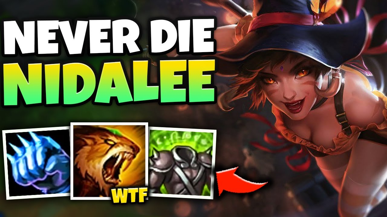 THIS 1V3 MONSTER NIDALEE TOP BUILD WILL CONFUSE YOUR ENEMIES! (NEVER DIE) - League of Legends