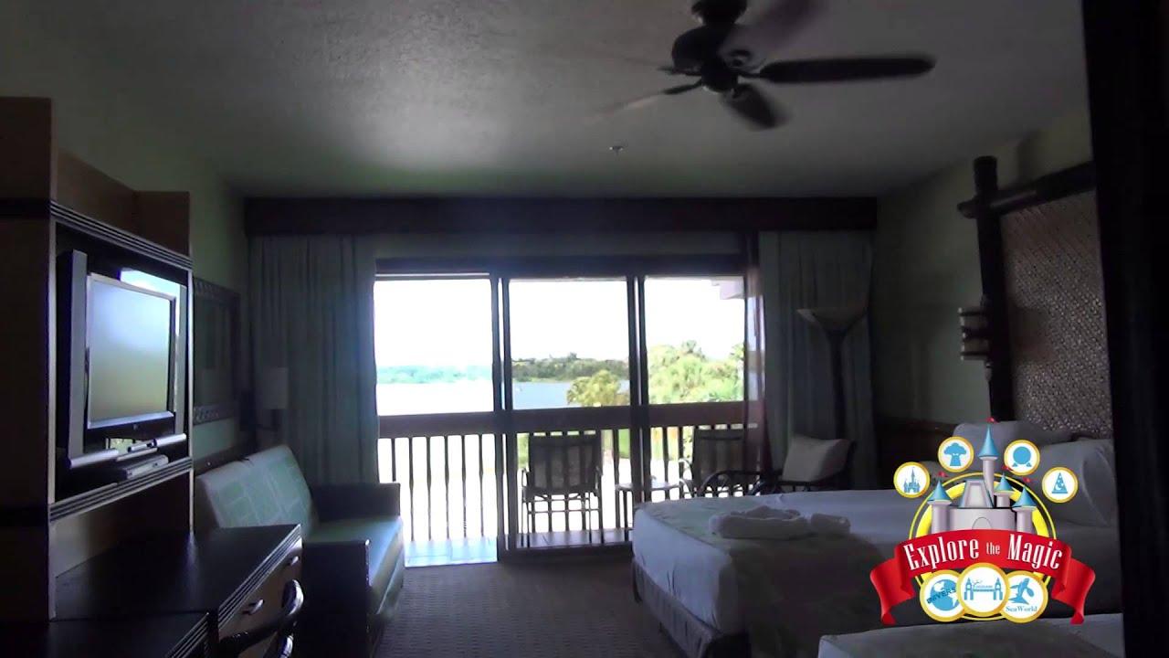 Disney S Polynesian Resort Room With Theme Park View Youtube