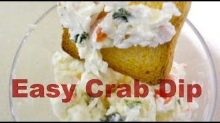 Easy Crab Dip Recipe (5 Ingredients) - Mydatatips