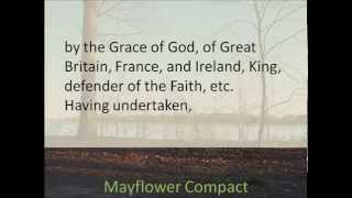 Mayflower Compact 1620    Hear and Read the Full Text