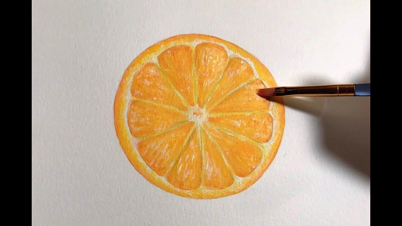 Acrylic Painting Time Lapse Orange