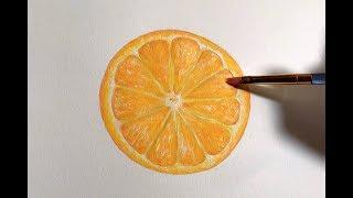 Acrylic Painting Time Lapse | Orange Slice