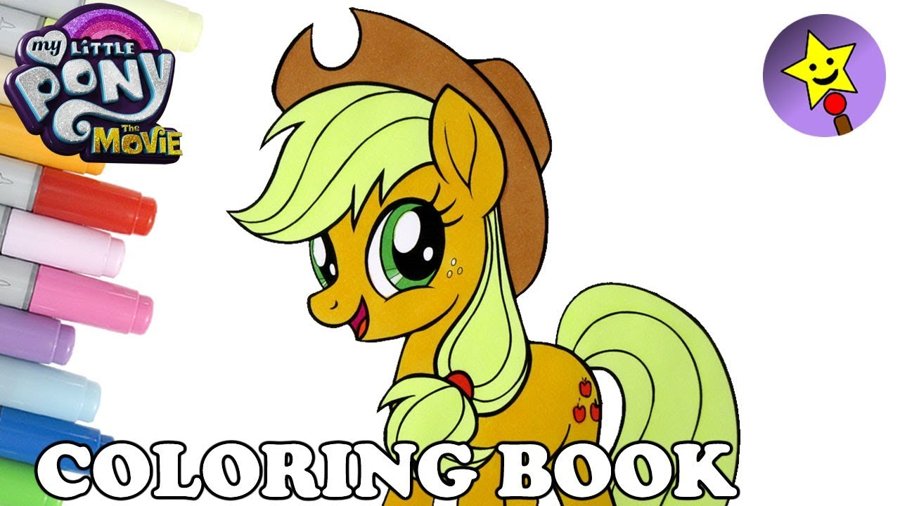 Applejack Coloring Book MLP My Little Pony The Movie Coloring Page ...