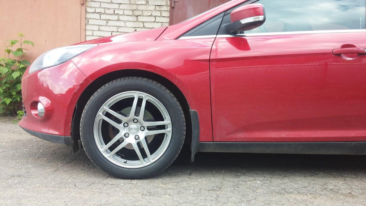 Ford focus2 катанный диски R18 - YouTube
