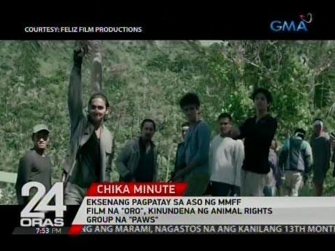"""Download 24 Oras: Eksenang pagpatay sa aso sa MMFF film na """"Oro"""", kinondena ng animal rights group na """"PAWS"""""""