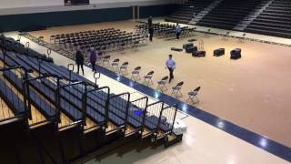 2017 Winter Commencement Time Lapse Set-up