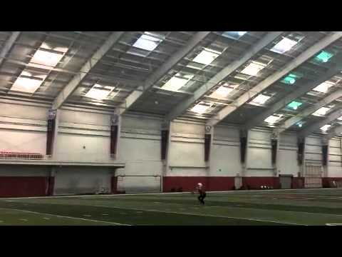 Nebraska Women's Gymnastics takes the Football Challenge