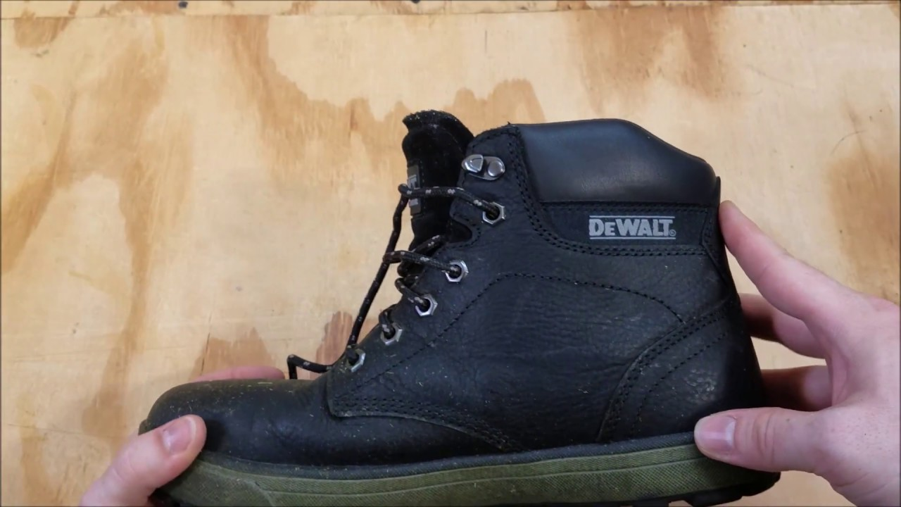 ffeae6fc839 DEWALT Plasma Men's Black Leather Steel Toe 6 in. Work Boot
