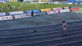 モンテディオ山形vs大分トリニータ 終了後 選手挨拶 川西選手も挨拶きたよ.
