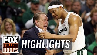 Michigan State vs Maryland | Highlights | FOX COLLEGE HOOPS