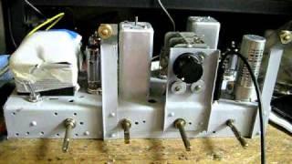 レストア完了間近の5球スーパーラジオ。 6BE6-6BA6-6AV6-6AR5 メトロ社...