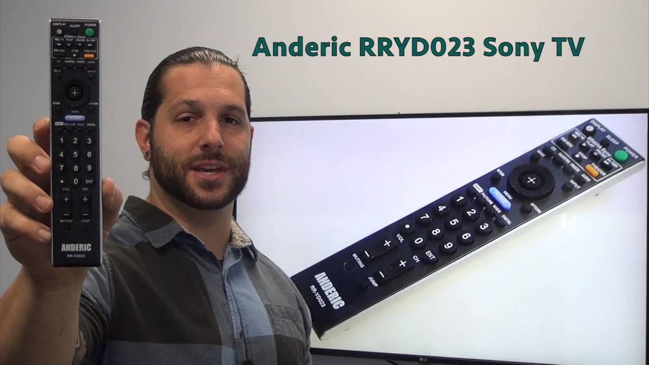 ANDERIC RRYD023 Sony TV Remote Control - www ReplacementRemotes com