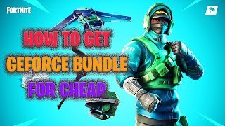 How to Get The Fortnite GEFORCE REFLEX Bundle for CHEAP/FREE! (Rare Skin!)