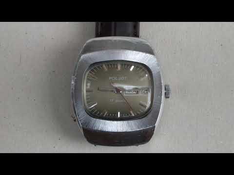Vintage Poljot (Полёт) USSR 17 Jewels Mechanical Watch.