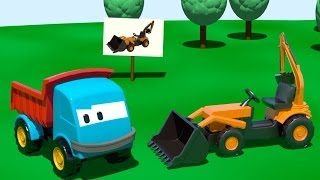 Мультики про машинки, мультфильм-конструктор Грузовичок Лева и Экскаватор - мультик про экскаватор.