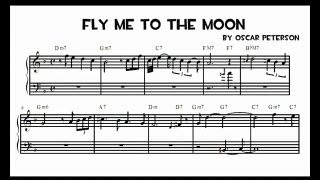 Oscar Peterson - Fly me to the moon (transcription)