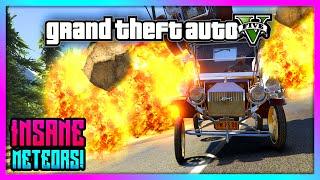 GTA 5 - Insane Meteor Apocalypse Attack Mod! - Super Fun Meteor Attack Gameplay! (GTA V)