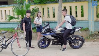 A bad son makes his old mother buy exciter motorbike to be proud to his friends