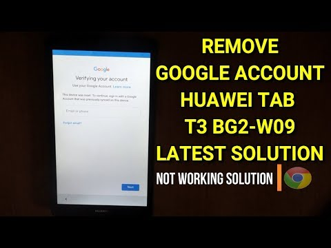 Huawei Tab T3 BG2-W09 Frp google account bypass latest security