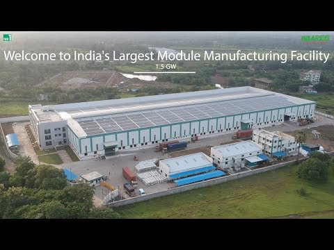 Waaree Energies Ltd Launches New 1.5 GW Solar Module Manufacturing Factory video at REI 2018