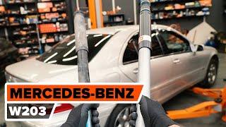 Montera Motorfäste bak vänster MERCEDES-BENZ C-CLASS (W203): gratis video