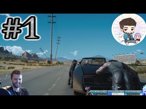 SUPER HYPE Final Fantasy XV Playthrough- PART 1: Tutorial, Opening Cutscene And Glutes!