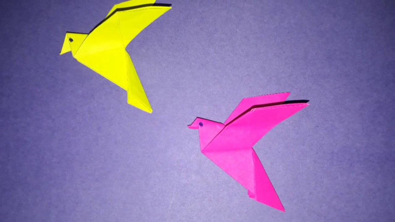 How To Make Flapping Bird With Craft Paper