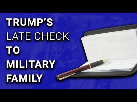Trump $25,000 Check to Gold Star Family Dated Same Day As Media Report