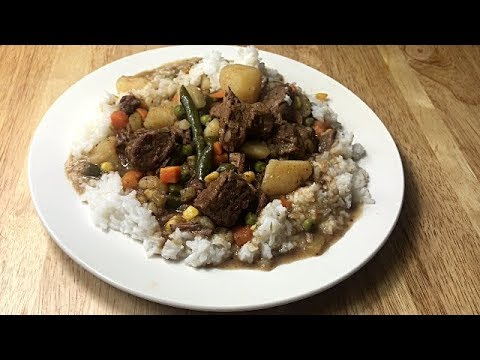 How To Make Beef Stew And Rice