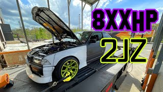 homepage tile video photo for BIGBOOST 2JZ POWERED BMW E36 DYNO DAY