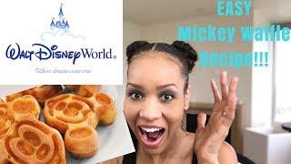 HOW TO  EASY RECIPE FOR AUTHENTIC DISNEY MICKEY WAFFLES!!! DEMO