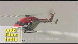 Helicopter stunt on Indian Air force day