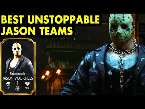 Best Unstoppable Jason Voorhees Teams in MKX Mobile. LIVE Stream + Free Souls Giveaway.