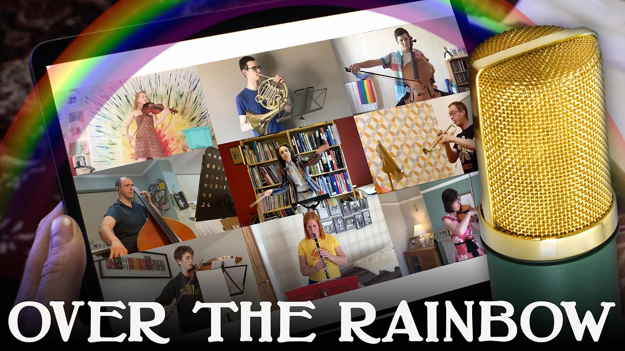 Somewhere Over The Rainbow - UK Orchestra in lockdown records using mobile phones for fundraiser!
