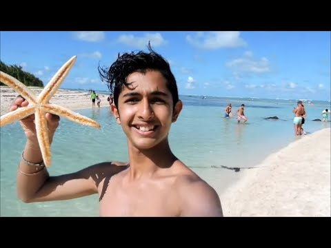 Île aux Cerfs island - Mauritius, got to hold a starfish!!!