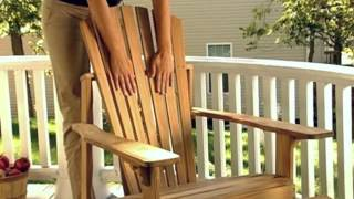 Melia Teak Adirondack Chair And Ottoman Set! - Product Review Video