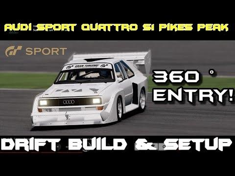 GT Sport : Audi Sport Quattro s1 Pikes Peak Drifting Build (Gran Turismo Sport)