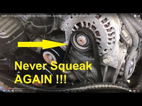 How To STOP ALTERNATOR DRIVE BELT Noise FOREVER!!