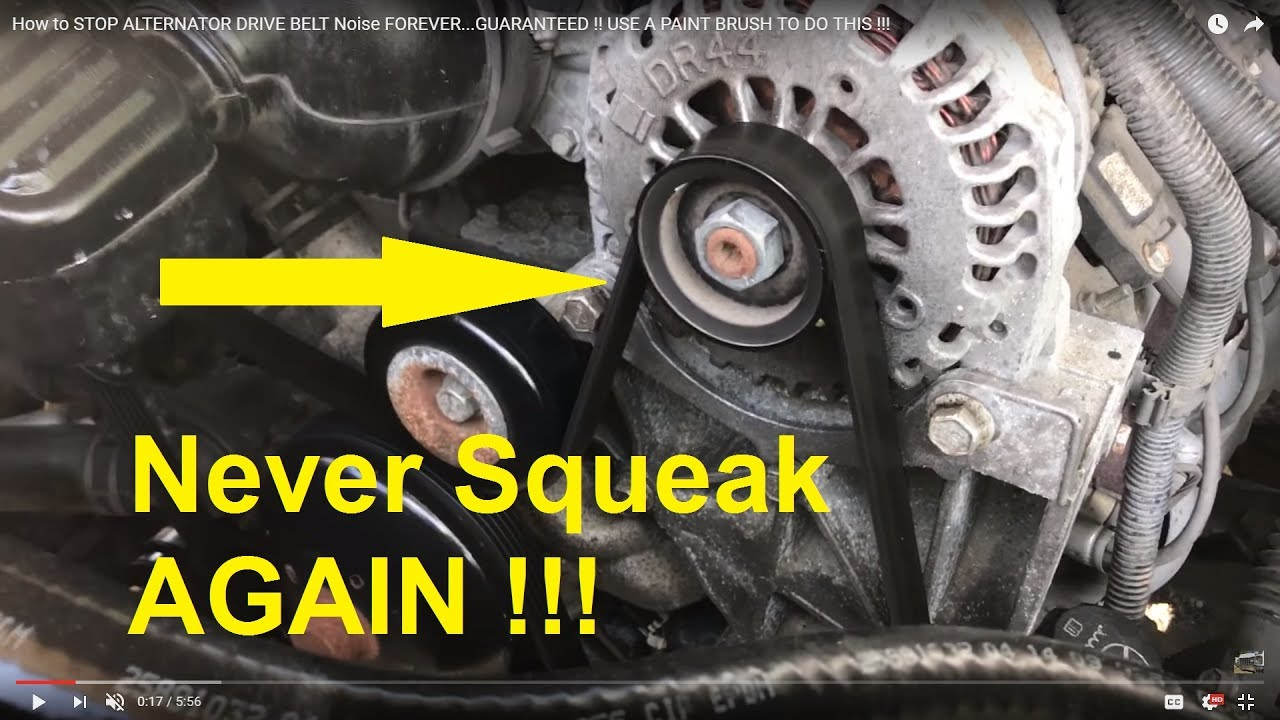how to stop alternator drive belt noise forever  [ 1280 x 720 Pixel ]