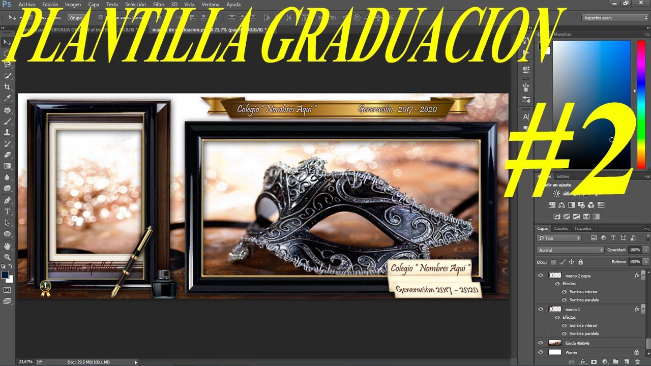 Plantilla psd Graduación con diseño marco decorativo para fotos ...