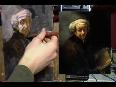 Painting Rembrandt in Acrylic: Part 1 Painting Demo
