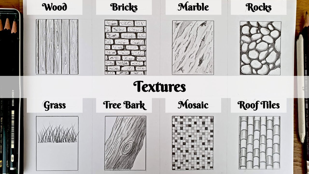 How To Draw Textures Part1 Youtube