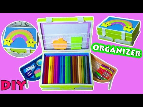 How to Make Pencil DESKTOP ORGANIZER  from Cardboard