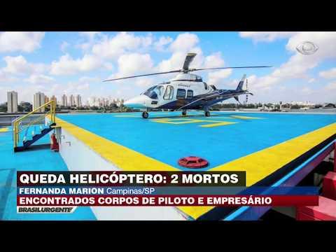 Queda de helicóptero deixa dois mortos em MG