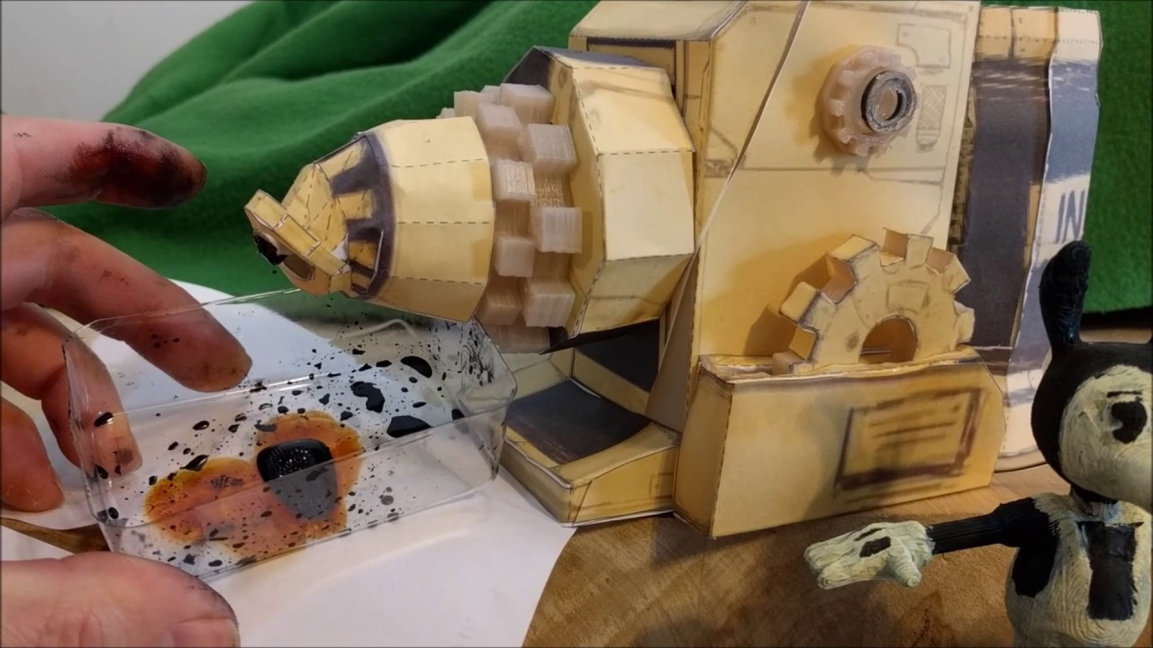 Papercraft Ink Machine And Bendy